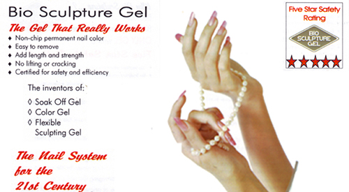 Bio Sculpture Gel nails advertisement